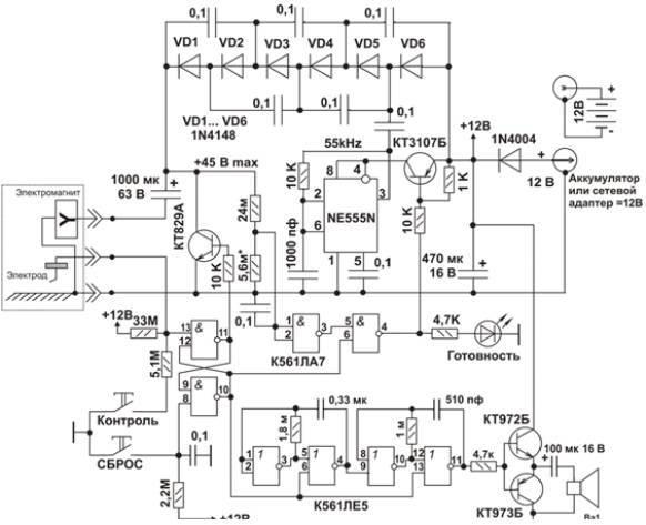 Потребляемый схемой ток во
