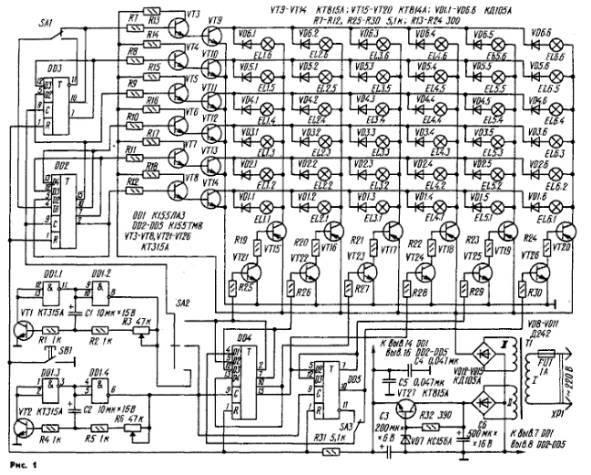 и транзисторных ключей.